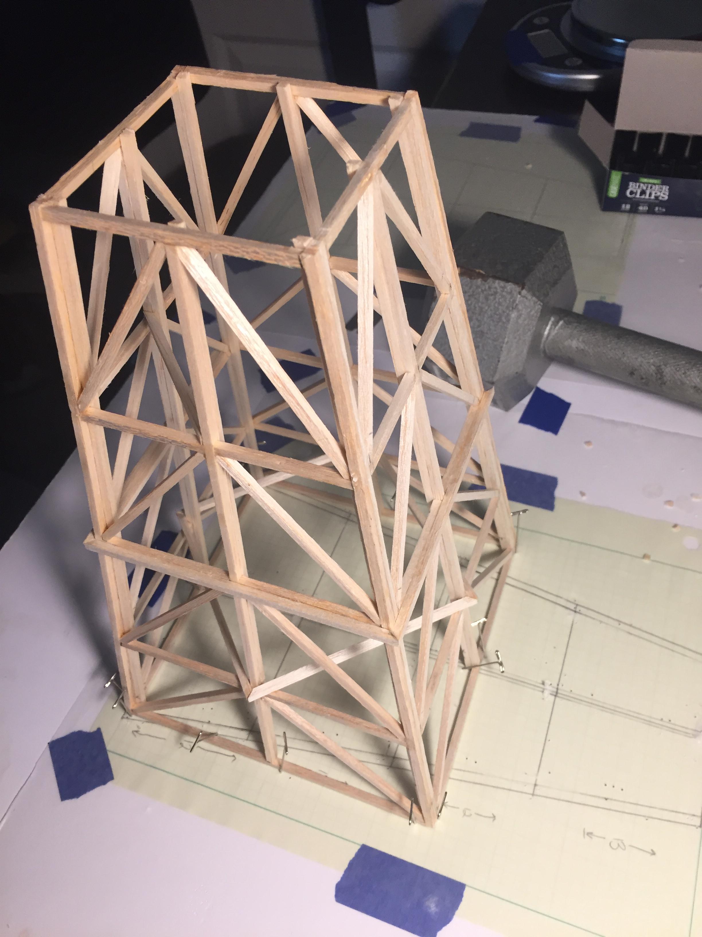 balsa wood truss tower under vertical loading  u2013 science