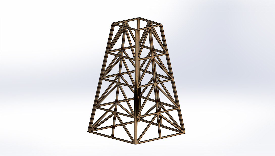 Balsa Wood Truss Tower Under Vertical Loading Science